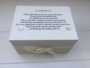 Shabby Personalised Chic Special Mother Of The Groom From Bride Gift Box Wedding - 232212381288